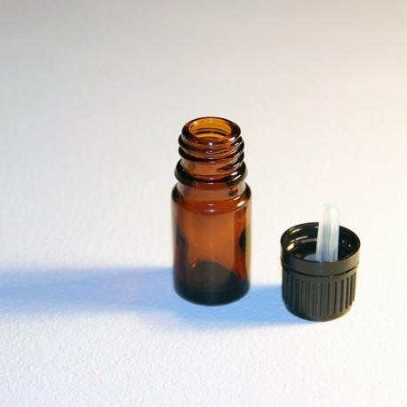 Steklenička iz rjavega stekla s kapalko 5ml